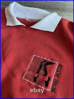 RARE Michael Jackson Bad 1988 Tour Concert Polo Sweatshirt