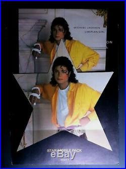 RARE! Michael Jackson Liberian Girl 7 Vinyl and Hanging Star Mobile Pack 1989