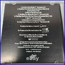 RARE Michael Jackson The Bad Mixes Special Radio Promo CD 1988 ESK 1215 EPIC