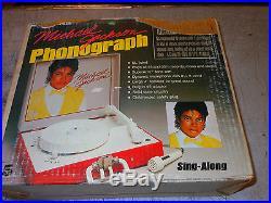 RARE Michael Jackson Vanity Fair Record Player WITH Needle Good Working Shape