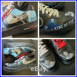 RARE Nike Air Force 1 Low Michael Jackson Sneakers Shoes Mens Size 7 Womens 8.5