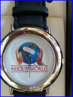 RARE VINTAGE 1990s MICHAEL JACKSON HEAL THE WORLD WATCH ORIGINAL BOX