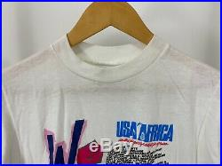 RARE VTG Michael Jackson We Are The World USA For Africa Promo T-Shirt Size M