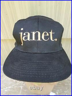 RARE! Vintage Janet Jackson 1993 Concert Tour Snapback Hat Michael Rhythm Nation