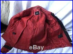 Rare 1980s vintage Michael Jackson Thriller Jacket 100% Genuine Leather Size 40