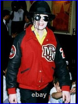 Rare Disney Mickey Mouse VTG Varsity Jacket As Worn By Michael Jackson 1990s L