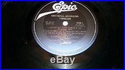 Rare Error Michael Jackson Thriller Cover And Vinyl Record Qe 38112 Nr