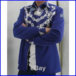 Rare MJ Michael Jackson This is it Blue 50th Brithday Printing Crystal Jacket