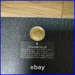 Rare Michael Jackson 1987 Japan visit commemorative gold coin with certificate