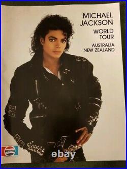 Rare Michael Jackson Australia New Zealand Souvenir Bad World Tour Book 1987