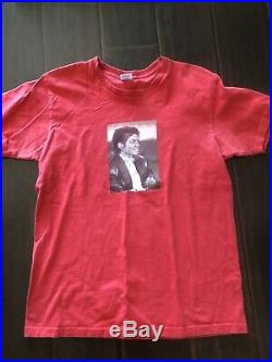 Rare Red Supreme Michael Jackson Tee T-shirt Red Size Large USA Made Authentic