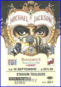 Rare / Ticket Billet Concert Michael Jackson Live A Toulouse (france) 1992