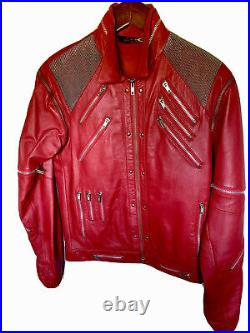 Rare Vintage 1980s Leather Michael Jackson BEAT IT Jacket Collector Condition