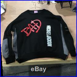 Rare Vintage Michael Jackson 1988 Bad Album MJ Crewneck Sweatshirt 80s Large