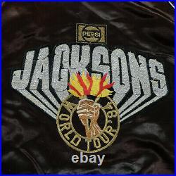 Rare Vintage UPSTREAM Jackson 5 World Tour 1984 Pepsi Satin Jacket 80s Michael