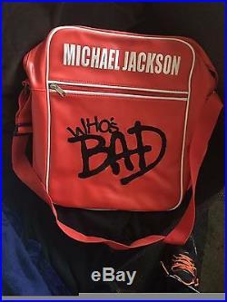 Rare michael jackson who's bad bag