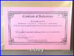 SALE/ MICHAEL JACKSON / Authentic Autograph 6.75 x5.25 Autograph With COA /Rare
