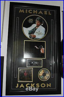 SIGNED Michael Jackson Thriller Sunglasses Framed 100% Original This Is It RARE