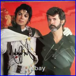 Super rare! Autographed by Michael Jackson and Lucas