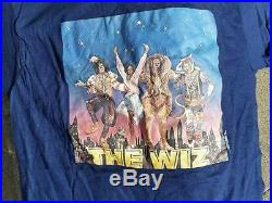 THE WIZ T-Shirt Vintage 1979 Michael Jackson Diana Ross Rare L