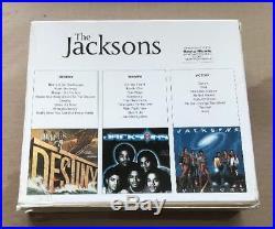The Jacksons Michael Jackson Destiny Triumph Victory 3 x Cd Box Set Mega Rare