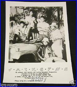 The Jacksonsrare 1984 Press Party Invitation/photomichael Jackson