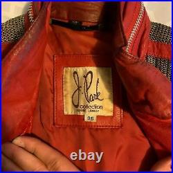 ULTRA RARE Vintage 1980s MICHAEL JACKSON Beat It Red Leather Jacket (J. Park)