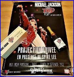Ultra Rare Bad 25 Champagne Michael Jackson Promotional Poster Spike Lee Signed