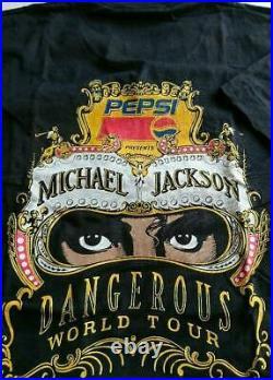 Unused Not for Sale Michael Jackson Dangerous Tour T-shirt M size rare