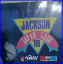 Used 1988 Mini Poster MICHAEL JACKSON Signed JP Tour 30cm×21cm Very Rare
