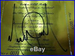 VERY RARE GOLDEN TICKET & NEVERLAND MAP SIGNED MICHAEL JACKSON AUTOGRAPH smile