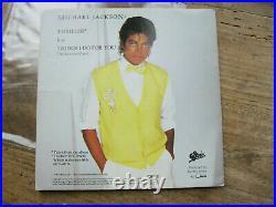 VG+ MICHAEL JACKSON Thriller with 1984 Calendar / Poster V. Rare 7 single