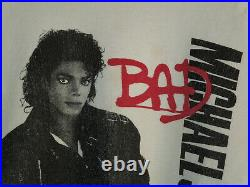VTG 80s Michael Jackson BAD Tour 1988 Sweatshirt Adult Unisex Size Large Rare