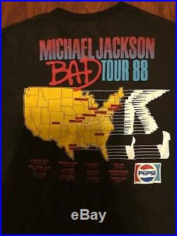 VTG Michael Jackson T Shirt 1988 Tour Concert RARE Bad Thriller concert Pepsi
