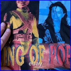 VTG Rap Tee Michael Jackson TOP 90s T Shirt XL Single Stitch Very Rare MOB DEEP