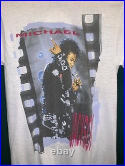 Veg 1988 Michael Jackson T Shirt Concert USA Bad Tour Promo Sz Medium RARE