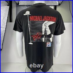Vintage 1988 Michael Jackson Bad Tour T-shirt Pepsi Size X-Large 46-48 Rare