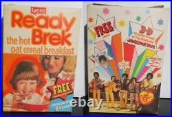 Vintage Jackson Five Michael Jackson Cereal Box UK Picture Card offer RARE 70s