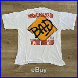 Vintage Michael Jackson 1988 BAD Tour XXL RARE T-Shirt