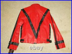 Vintage Michael Jackson Leather Jacket Dead Stock Rare Original Thriller 80s 40