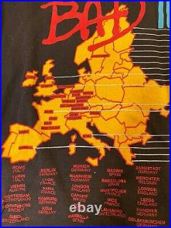 Vintage Michael Jackson T Shirt Large 1988 BAD Tour Concert Single Stitch RARE