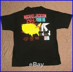 Vtg 1988 Michael Jackson BAD Tour T-shirt Original Rare XL Touch of Gold