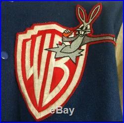 Warner Brothers Varsity Jacket Bugs Bunny Michael Jackson Looney Tunes Bros Rare